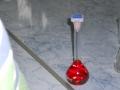 Balon cotat cu solutie de Rodamina.JPG